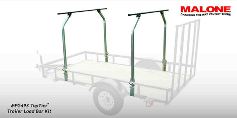 Malone Auto Racks Top Tier Utility Trailer Cross Bar System - kayakmodify