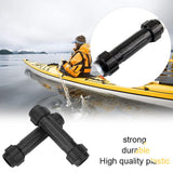 SolUptanisu 2pcs Kayak Paddles Connector Plastic Screw Joint Part Replacement Accessory for Kayak Inflatable Boat Canoe Dinghy Rowing Oars Black - kayakmodify