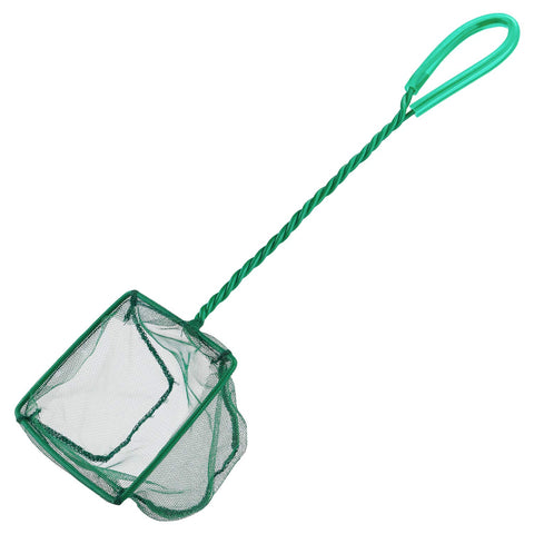 Pawfly 4 Inch Aquarium Net Fine Mesh Small Fish Catch Nets with Plastic Handle - Green - kayakmodify