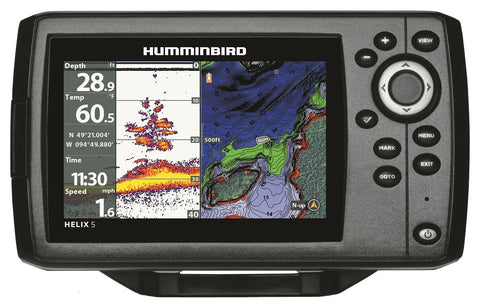 Humminbird 410210-1 Helix 5 Chirp GPS G2 Fish Finder - kayakmodify