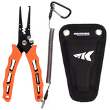 KastKing Cutthroat 7 inch Fishing Pliers, 7 inch Split Ring Nose - kayakmodify