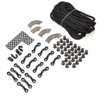 Marine Masters Expanded Deck Rigging Kit Accessory for Kayaks Canoes and Boats With Wellnuts (Black Stainless Steel) - kayakmodify