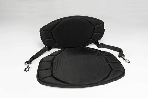 Pelican Boats - Sit-on-top Kayak or SUP Seat - PS0480-3 - Universal Fit Water Repellent Cushion with Back Support, Black - kayakmodify