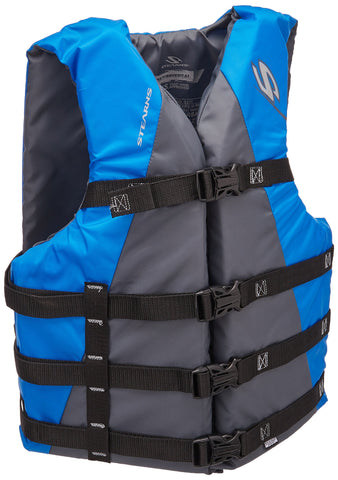 Stearns Adult Watersport Classic Series Life Vest, Blue - kayakmodify
