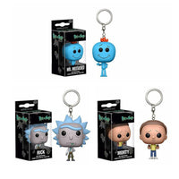 Funko Rick Pocket Rick And Morty Keychain Mr Meeseeks Action Figure Toys