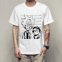 Men T-shirt crewneck loose rick and morty printed  T shirt 2019 new casual tshirt tops free shiping