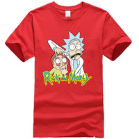 Men's high quality T-shirt 100%  cotton crewneck loose rick and morty printed men Tshirt casual knitted mens t-shirt tops