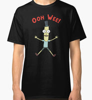 Ooh Wee! Mr. Poopy Butthole Men's Black Tees Shirt Clothing Men'S Short Sleeve T Shirt Cotton Basic Models  T-shirt TOP TEE