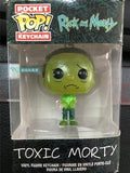 Original Funko Keychain Glow in the dark Rick and Morty - Toxic Rick Morty Vinyl Action Figure Key Chain Collectible Model Toy