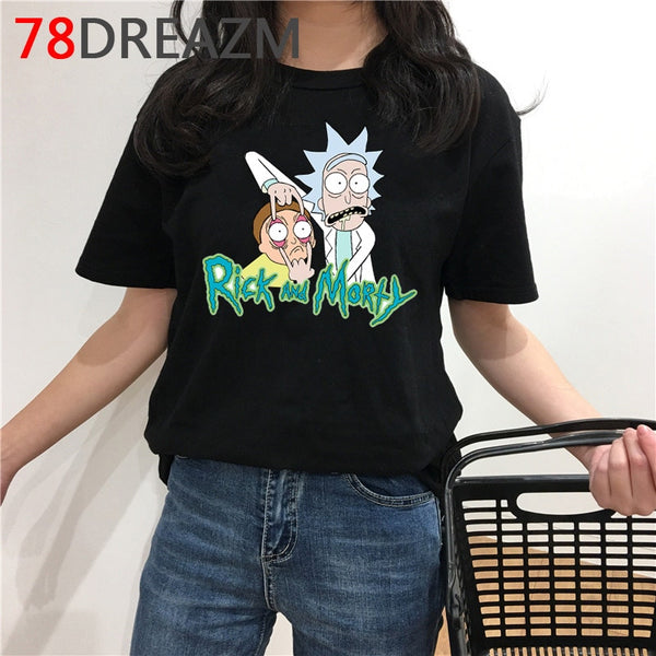 Rick and Morty T Shirt Men Kawaii Cartoon T-shirt Summer Top Cute Ricky N Morty Graphic Harajuku Anime Oversized Tshirt Male