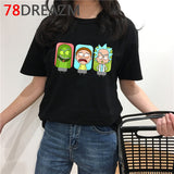 Rick and Morty T Shirt Men Kawaii Cartoon T-shirt Summer Top Cute Ricky N Morty Graphic Harajuku Anime Oversized Tshirt Male 1