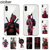 ciciber Marvel Deadpool Phone Case For Apple iPhone 7 8 6 6s Plus X XR XS MAX 5 5S SE Soft TPU Cover For iPhone 11 Pro Max Coque