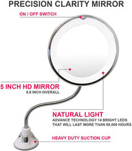 Load image into Gallery viewer, 10x LED Adjustable Suction Vanity Mirror