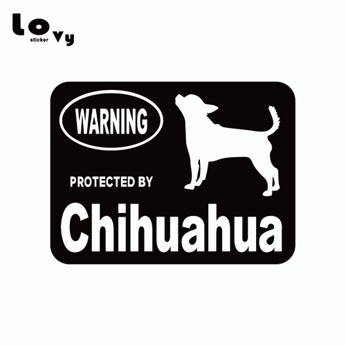 Protected By Chihuahua Vinyl Car Sticker