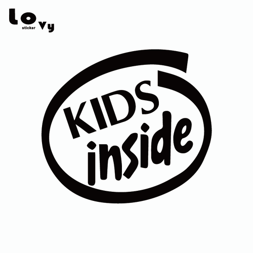 Kids Inside Vinyl Sticker