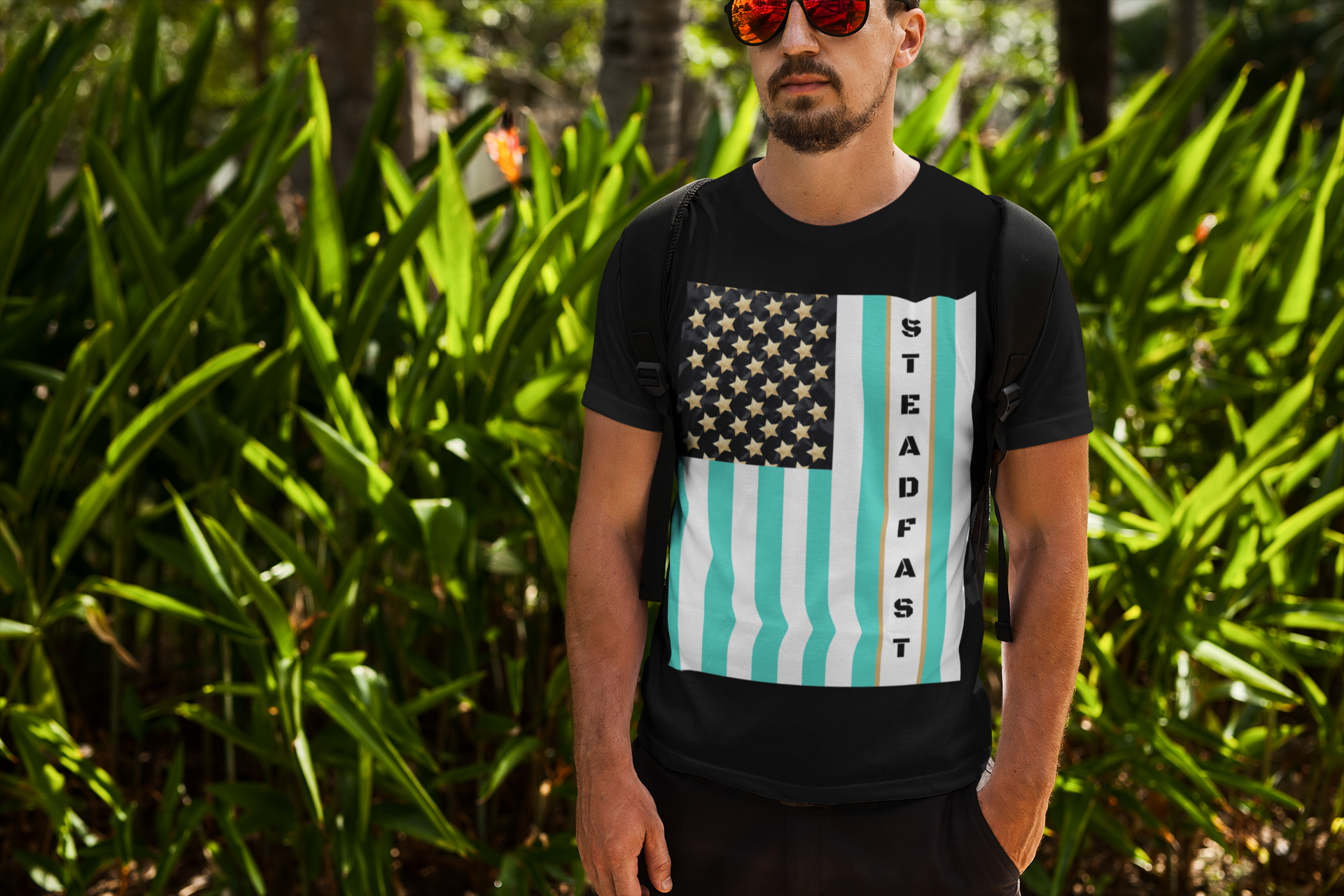 Steadfast Flag T-Shirt Black