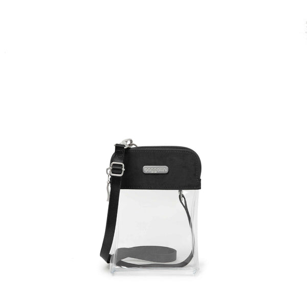 Baggallini Clear Bryant Crossbody Bag Black