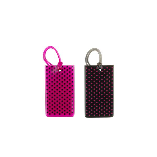 Conair Jelly Luggage Tags Black/Magenta