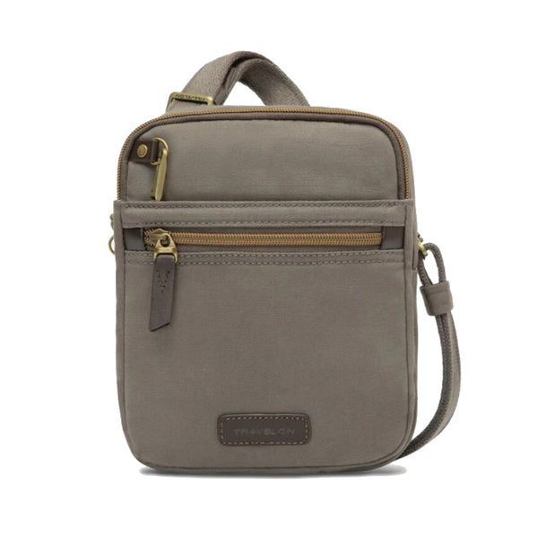 Travelon Anti-Theft Courier Small North/South Slim Bag Stone