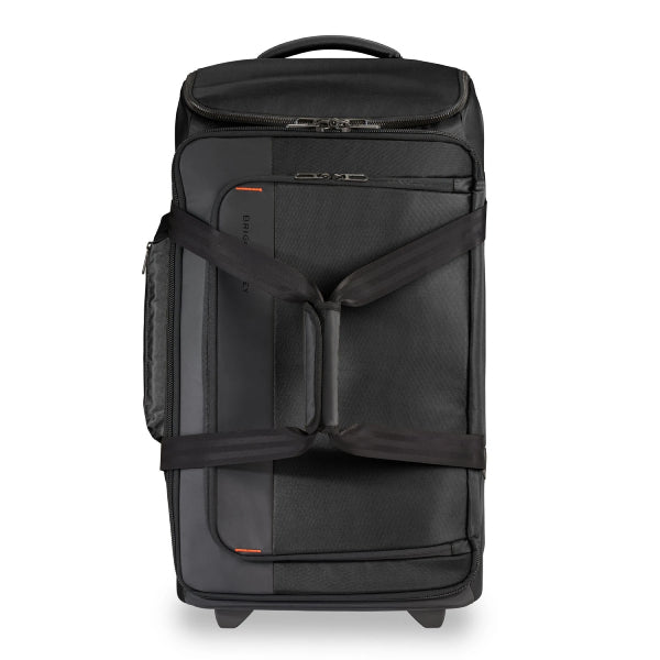 Briggs & Riley Medium Upright Wheeled Duffel Bag Black