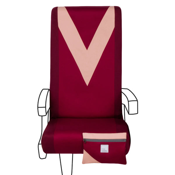 Nice Seats Washable Seat Covers Bordeaux & Blush