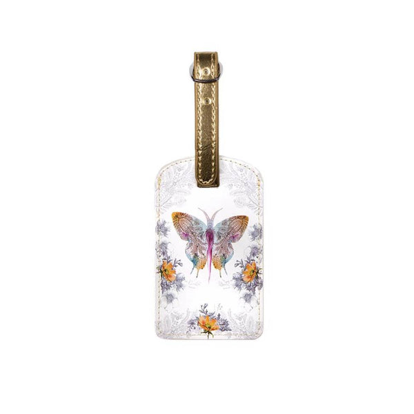Papaya Luggage Tags Paisley Butterfly
