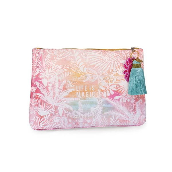 Papaya Tassel Pouch Large Life Is Magic