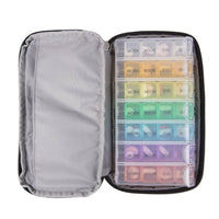 Travelon 7 Day Pill Organizer with Carrying Case Interior View