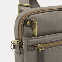 Travelon Anti-Theft Courier Small North/South Slim Bag Zipper Detail