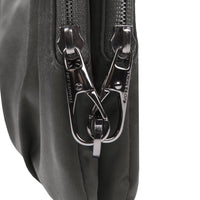 Travelon Anti Theft Park View Double Zip Crossbody Clutch Zipper Detail