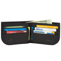 Travelon RFID Blocking Leather Front Pocket Wallet Interior View