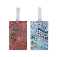 Travelon Set of 2 Silicone Luggage Tags Passport Stamp