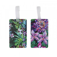 Travelon Set of 2 Silicone Luggage Tags Tropical Leaves