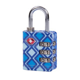 Travelon TSA Accepted Luggage Lock Blue Geo