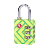 Travelon TSA Accepted Luggage Lock Green Wave