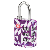 Travelon TSA Accepted Luggage Lock Purple Diamond