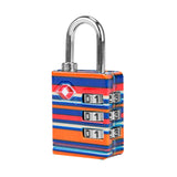 Travelon TSA Accepted Luggage Lock Coral Stripes