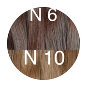 Tapes ombre Color 6 and 10 GVA hair - GVA hair