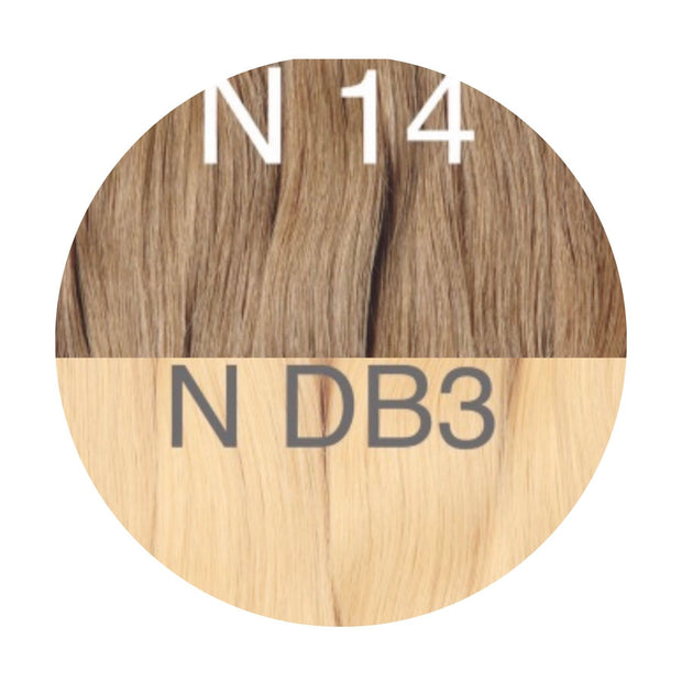 Hot Fusion ombre 14 and DB3 Color GVA hair_Retail price - GVA hair