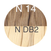 Hot Fusion ombre 14 and DB2 Color GVA hair - GVA hair