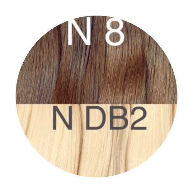 Hot Fusion ombre 8 and DB2 Color GVA hair - GVA hair