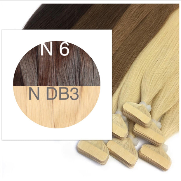 Tapes ombre Color 6 and DB3 GVA hair - GVA hair