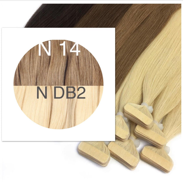 Tapes ombre Color 14 and DB2 GVA hair_Retail price - GVA hair