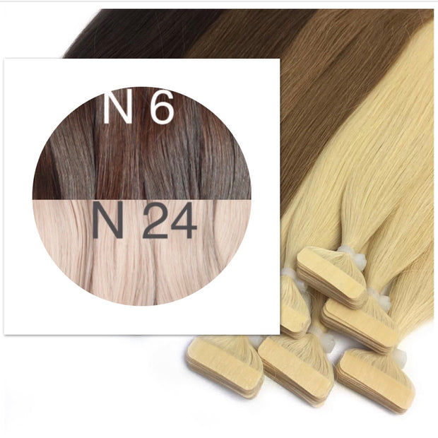 Tapes ombre Color 6 and 24 GVA hair_Retail price - GVA hair