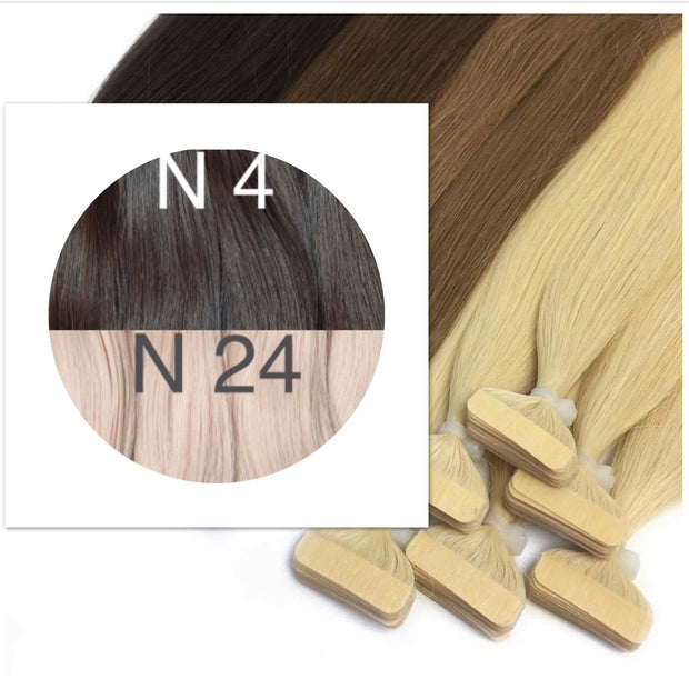 Tapes ombre Color 4 and 24 GVA hair_Retail price - GVA hair