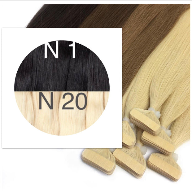 Tapes ombre Color 1 and 20 GVA hair_Retail price - GVA hair