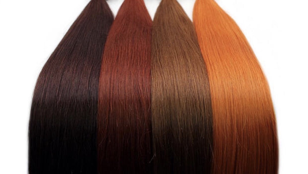 Raw Cut hair Colors RED BROWN 100 grams - GVA hair