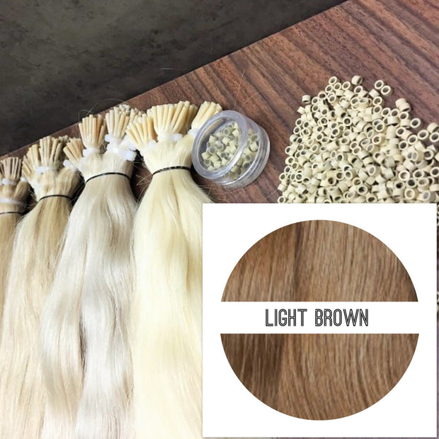 Micro links Colors LIGHT BROWN_Retail price - GVA hair