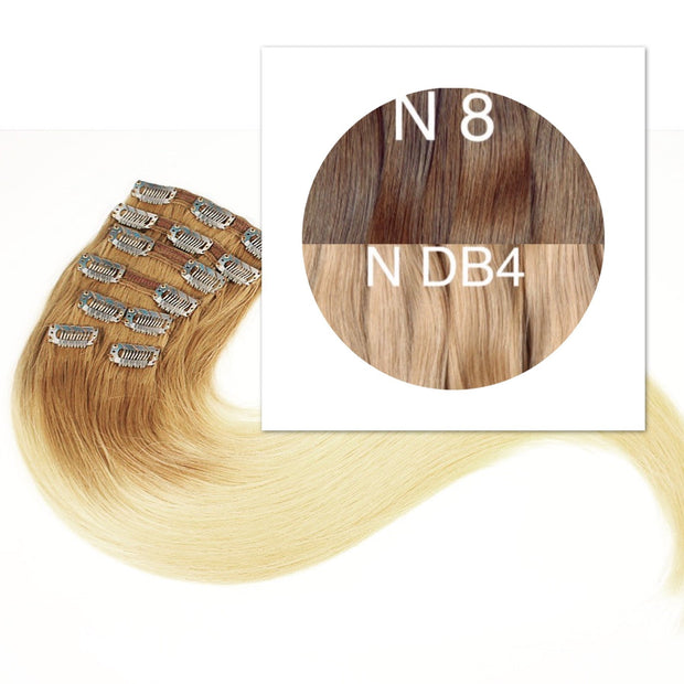 Clips 7 part Colors LIGHT OMBRE _Retail price - GVA hair