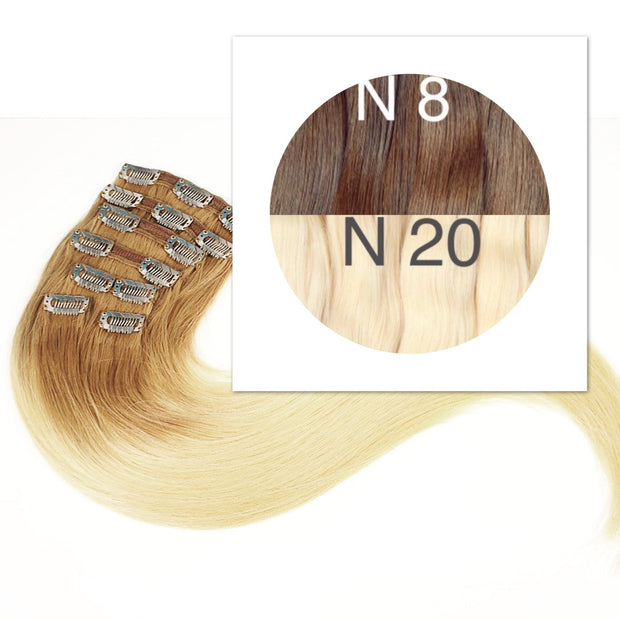 Clips Ombre 8 and 20 Color GVA hair - GVA hair